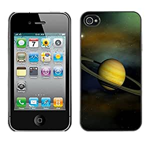 LOVE FOR iPhone 4 / 4S Saturn Rings Solar System Planet Cosmos Personalized Design Custom DIY Case Cover