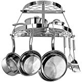 Range Kleen Two Shelf Wall-mount Pot Rack (stainless Steel)