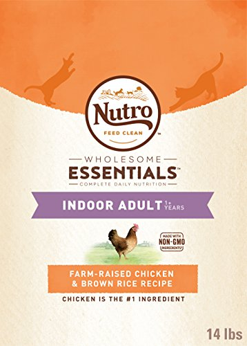 Nutro Wholesome Essentials Indoor Adult Dry Cat Food Farm-Raised Chicken & Brown Rice Recipe, 14 Lb. Bag
