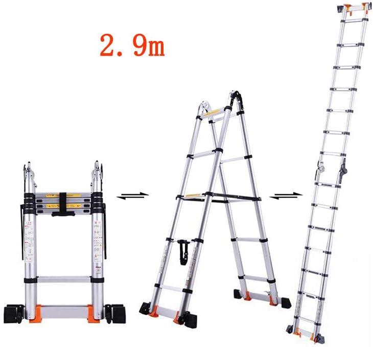 MLMHLMR Escalera Plegable casa Escalera multifunción ingeniería portátil Escalera Recta Espina Escalera de Encogimiento aleación de Aluminio Taburete (Size : 2.7m): Amazon.es: Hogar
