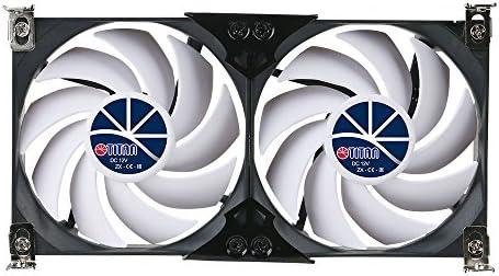 TITAN- 12V DC 120mm Double Rack Mount Cooling Fan for Caravan RV fridge  Vent and Ventilation Grille -TTC-SC22 (90mm)