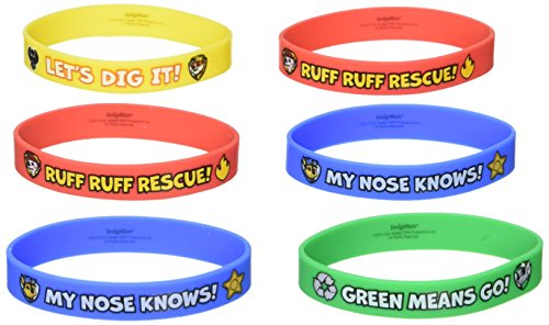 Amscan PAW Patrol Rubber Bracelets, 4 Pieces, Made from Rubber, Multicolor, 2 1/2
