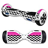 MightySkins Protective Vinyl Skin Decal for Self Balancing Scooter Board mini hover 2 wheel x1 razor wrap cover sticker Hot Pink Chevron