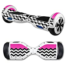 MightySkins Skin For Self Balancing Mini Scooter Hover Board - Hot Pink Chevron | Protective, Durable, and Unique Vinyl Decal wrap cover | Easy To Apply, Remove, and Change Styles | Made in the USA