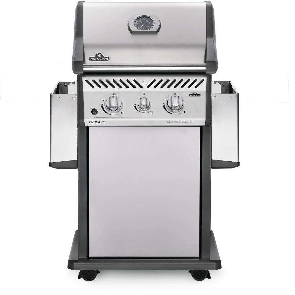 07b1fdaa4b8 Amazon.com  Napoleon Rogue 365 Propane Gas Grill with Range Side Burner -  R365SBPSS  Garden   Outdoor