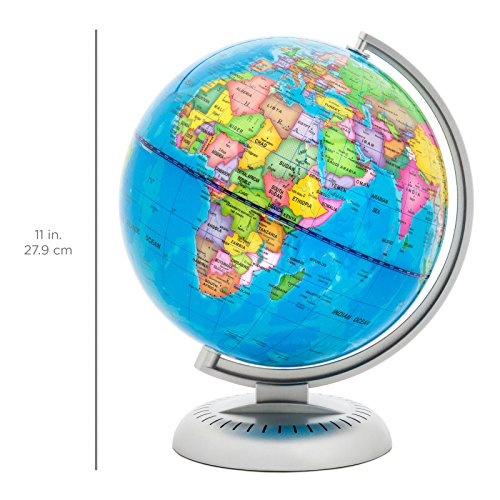 Illuminated World Globe - Multicolor With LED Lights (8 inch) by Blossom Store (Image #1)