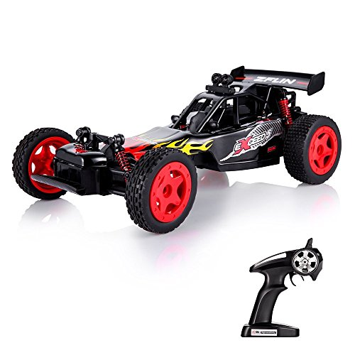 RC Car Remote Control Car Toys 1:16 Monster Truck RC Buggy Desert Buggy 2.4Ghz 2WD 50M Distance Desert Race Crawler Off Road Electric Vehicle Radio Controlled Car High Speed Hobby Gift -