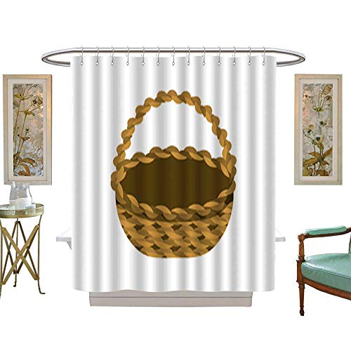 Iuvolux Polyester Fabric Bathroombeautiful Hamper to Save Food celebration2. Shower Curtain Set with Hooks W36 x H72 ()