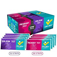 Care Check Combo Ovulation and Pregnancy Test Kit, 52 Ovulation Tests and 26 Pregnancy Tests