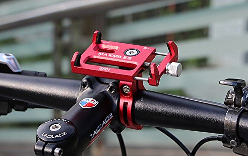 MaxMiles Motorcycle and Bicycle Cell Phone Holder Aluminum Universal Adjustable Phone Mount Smartphone Holder Bike Handlebar Phone Holder for iPhone X 5 6 7 8 Plus Samsung LG (Rotation Red) by MaxMiles (Image #8)