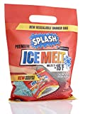 SPLASH Premium ice melt resealable Shaker Bag, Melts to -15F, 10lb, Snow & ice Salt, Concrete Safe, Good for driveways, Sidewalks, etc.