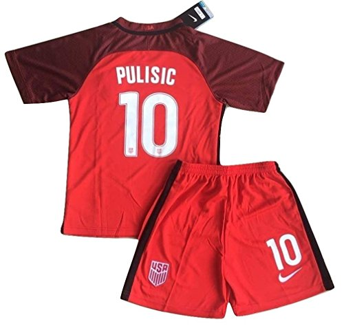 2017-2018 Christian Pulisic #10 New USA National 3rd Jersey and Shorts for Kids/Youth (9-10 Years Old)