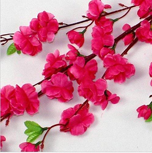 5PCS Peach blossom Simulation Flowers Wedding Bouquet Artificial Flowers Silk flower Decorative Flowers Wreaths Home Decoration (Rose Pink)