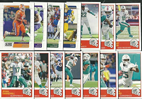 (2019 Panini Score Football Miami Dolphins Team Set 14 Cards W/Drafted Rookies)