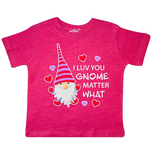 Toddler Gnome - inktastic - I Luv You Gnome Matter Toddler T-Shirt 3T Retro Heather Pink 2e5bb