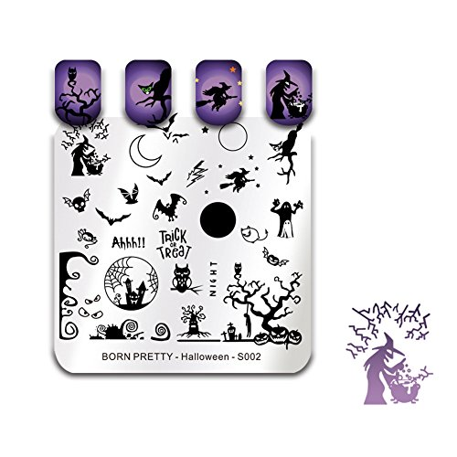 BORN PRETTY Nail Art Stamp Templates Halloween Stamping