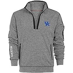 NCAA Kentucky Wildcats Men's Premium Quarter Zip Pullover Hoodie, X-Large, Gunpowder