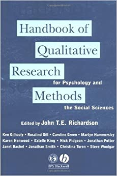 Handbook of Qualitative Research Methods for Psychology and the Social Sciences (1996-03-25)