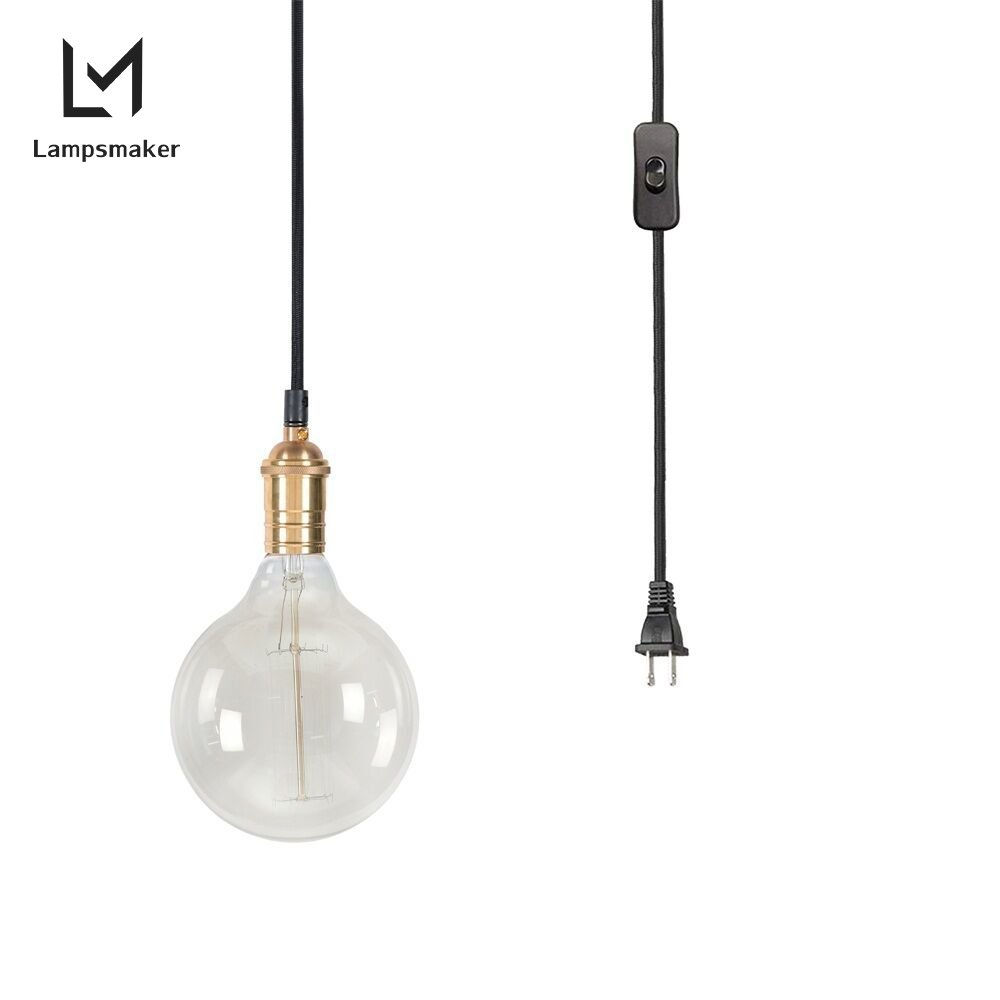 Lampsmaker Industrial Edison Vintage Metal Style 1-Light Adjustable Mini Pendant Lighting Glass Hanging Lamp With KitchenS82757