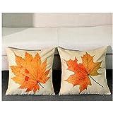 Gotd 2Pack Christmas Decorative Cushion Warm Maple Leaf Cotton...