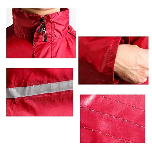adulti Dimensione sella a Red in Raincoat Color Set Split L Uomini un impermeabili donne Guyuan e motociclo ZYSqzw