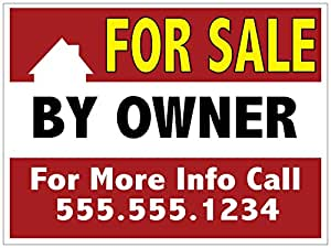 amazon com custom for sale by owner yard sign fsbo printed 1 sided 18 x 24 wire h stake