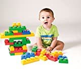 UNiPLAY Soft Building Blocks - Basic Series(36 PCS), Educational and Creative Toys, Food Grade Material(Antibacterial), Non-Toxic,100%SAFE for Kids, Toddlers, Baby, Preschoolers