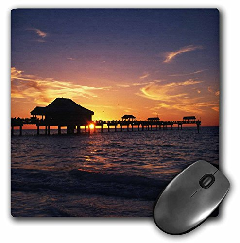 "Price comparison product image 3D Rose ""Clearwater Beach And Pier At Sunset Florida UsaUs10 Aje0290Adam Jones"" Matte Finish Mouse Pad - 8 x 8"" - mp_143601_1"