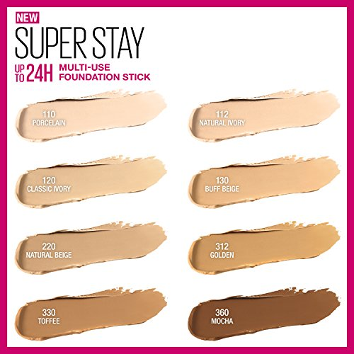 Maybelline Super Stay Foundation Stick For Normal to Oily Skin, Classic Ivory, 0.25 oz. by Maybelline New York (Image #3)