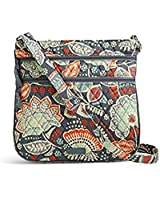Vera Bradley Triple Zip Hipster Cross-body Bag (Nomadic Floral with Grey Interior)