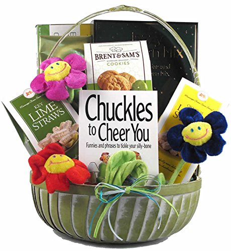 Cheer Up and Get Well Soon! Gift Basket for Women | Great Birthday Gift or Get Well Gift Basket