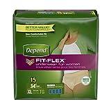 Depend Fit-Flex Underwear For Women Maximum Absorbency XL - 15 CT