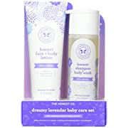 The Honest Company 2 Piece Dreamy Lavender Shampoo with Body Wash & Lotion Bundle, 1.5 Pound