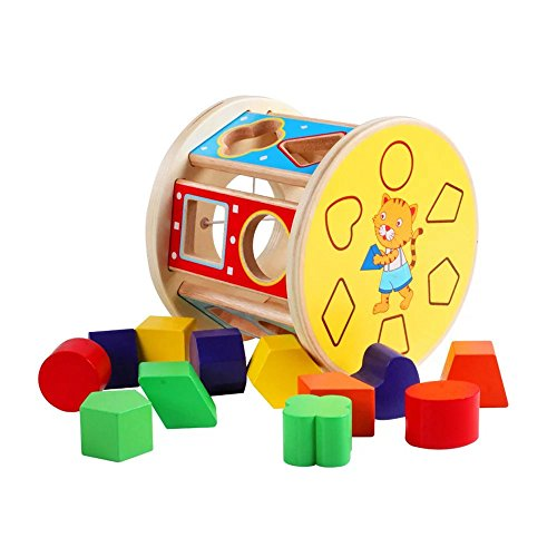 Hong Kong Sevens Costumes 2016 (1 pc Creative 13 Holes Intelligence Box Shape Matching Blocks Wooden Shape Sorter Baby Kids Wooden Educational Toy)