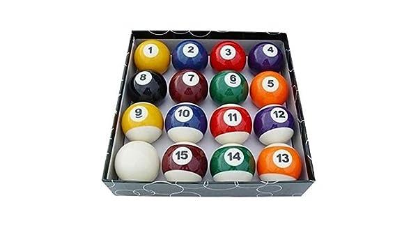 EEvER Divertido Juguete Personalizado Set de Bolas de Billar, 16 Piezas/Set Bolas de Billar para Niños Conjunto de Bolas de Billar Conjunto de Bola de Juguete en Miniatura: Amazon.es: Hogar