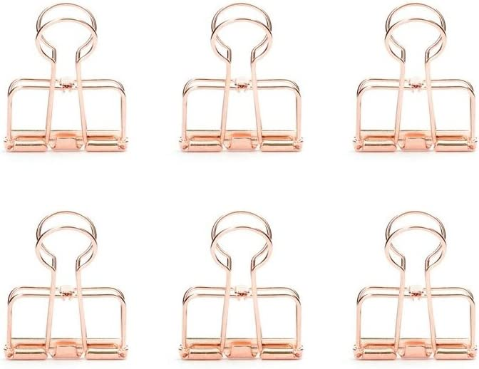 Kikkerland Wire Clips, Copper, Set of 6 (OR73-CO)