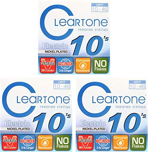 Cleartone 9410 Light Electric Guitar Strings 10-46 (Pack of 3) (Cleartone Guitar Strings)