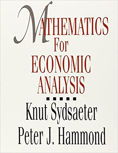 Essential Mathematics For Economic Analysis 3rd Edition Pdf