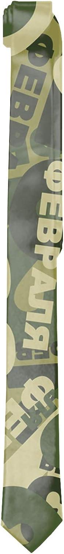 Mens Green Camouflage Neck Ties Printed Slim Skinny Ties for Men