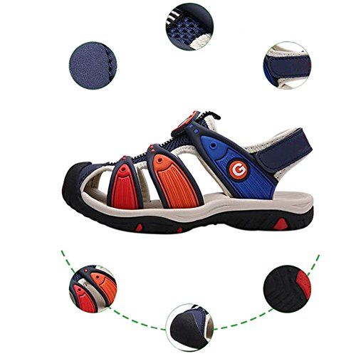 Meijunter Sommer Kinder Jungen Colorful HohlStrand Sandale Casual Sport Walking Schuhe Black