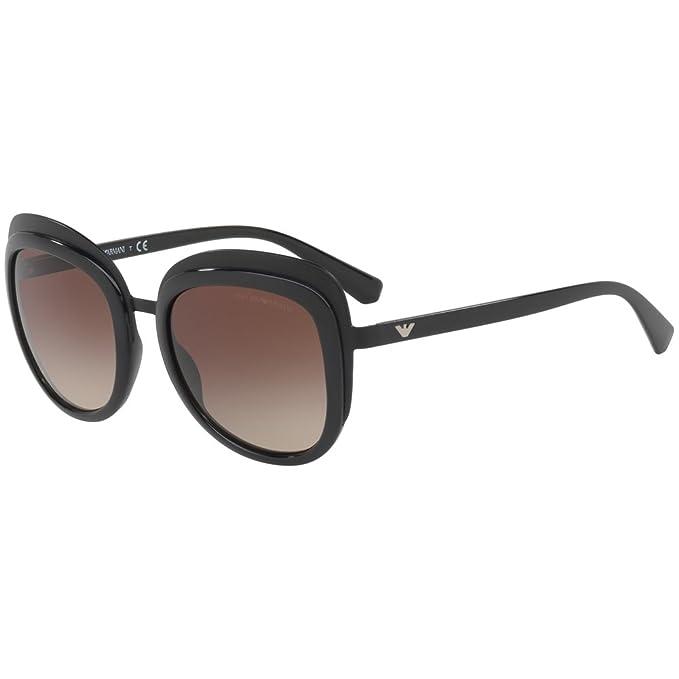 Emporio Armani 0EA2058 300113 53, Gafas de Sol para Mujer, Negro (Matte Black