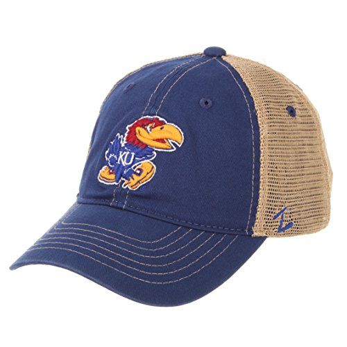 - Zephyr NCAA Kansas Jayhawks Men's Institution Relaxed Cap, Adjustable, Royal