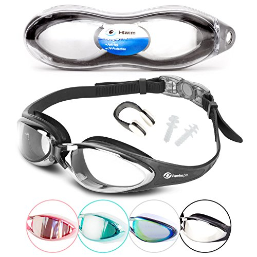 How Do Fog Machines Work (i Swim Pro Swimming Goggles - No Leaking, Anti-Fog, UV Protection, Crystal Clear Vision with Protective Case - Comfortable Fit For Adults, Men, Women, Youth, Kids 10+ (Clear Black))