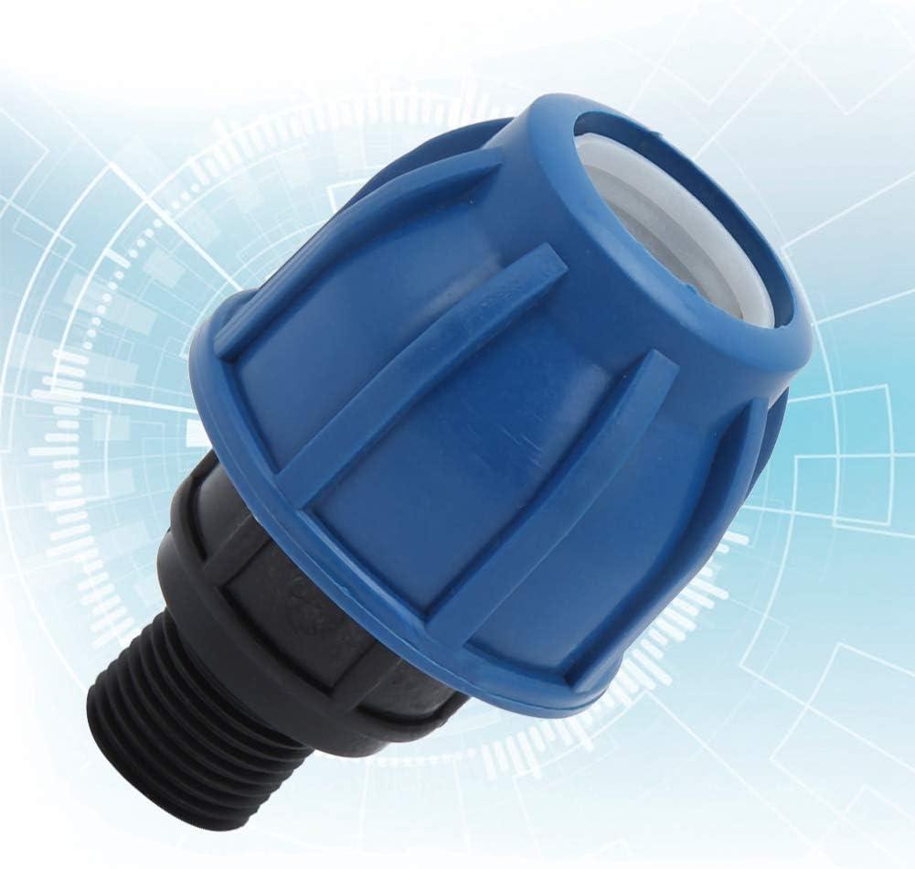 Rosca externa de 25 mm a G3 // 4 Jeffergarden 3Pcs PE Conector de tubo de manguera de agua de pl/ástico Adaptador de conexi/ón r/ápida Accesorios de montaje Herramientas de manos (25 mm a G1//2//G3//4)