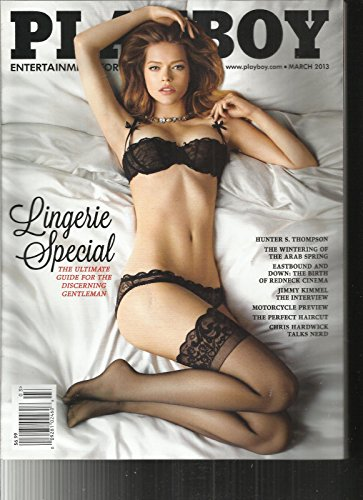 PLAYBOY MAGAZINE, ENTERTAINMENT FOR MEN LINGERIE SPECIAL MARCH, 2013