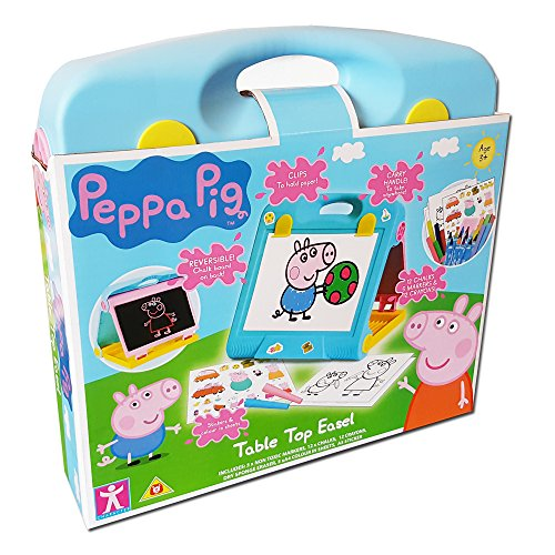 Pig Tabletop - New Peppa Pig Table Top Creative Drawing Activity Easel Playset Age 3+