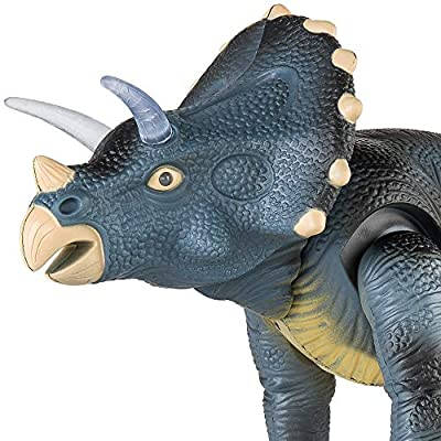 Best Choice Products 14.5-Inch RC Triceratops Play Toy w/ Light Up Eyes and Sounds: Toys & Games