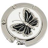 Kyпить Round Folding Butterfly Accent Hook Handbag Table Hanger Black на Amazon.com