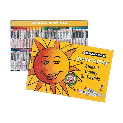 - Sakura Cray-Pas Junior Artist Oil Pastels, Assorted Colors, Set of 50