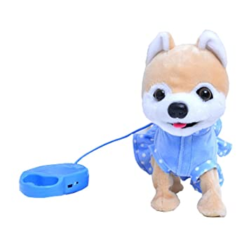 Amazon Com Electric Toy Dog Pomeranian Child Simulation Plush Toy